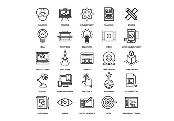 Design and Development Icons Set 02