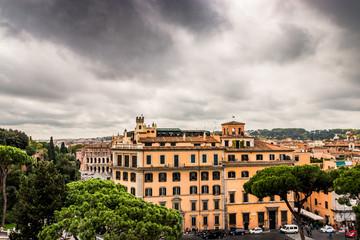 Vu sur Rome et la Piazza Venezzia du haut du Monument à Victor-Emmanuel 2
