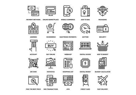 Digital Commerce Icons Set 02