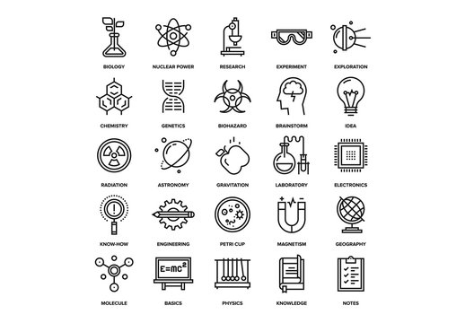 Research and Science Icons Set 02