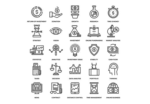 Investment Icons Set 02