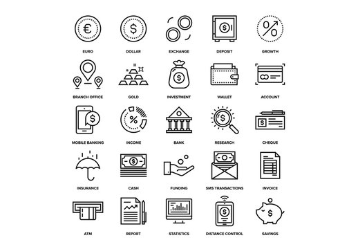 Banking and Money Icons Set 02