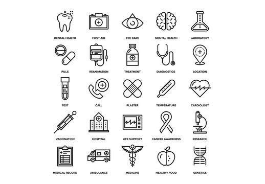 Healthcare and Medicine Icons Set 04
