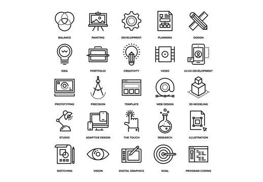 Design and Development Icons Set 02