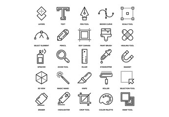 Design Tools Icons Set