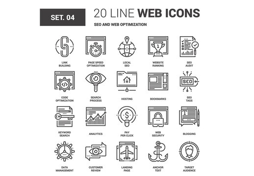 SEO and Web Icons Set