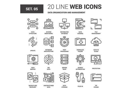 Data Management Icons Set