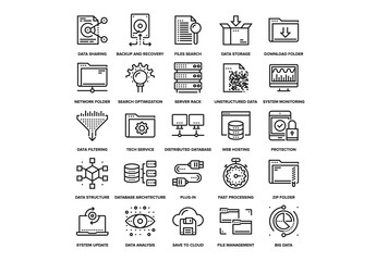 Data Management Icons Set