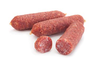 Small salami sausage slice