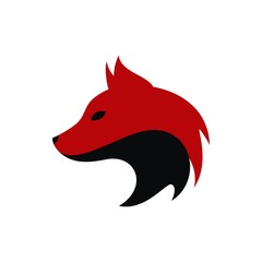 Head of wolf logo vector