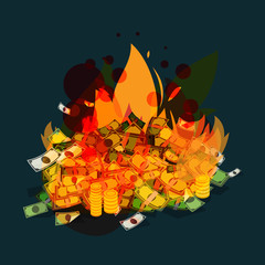burning money - vector