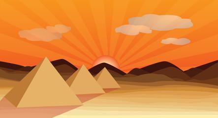 egypt desert piramid