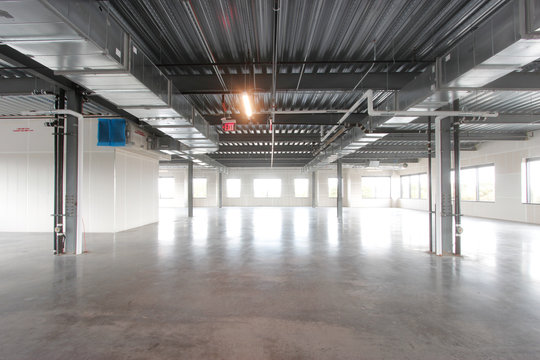 Large empty warehouse space