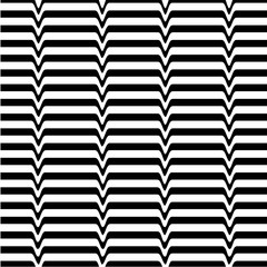 White black wave abstract line optical background. Monochrome movement illusion. Art design template.