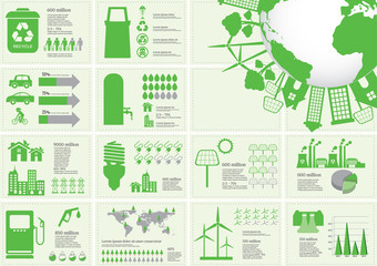 Ecology Infographic Elements Vector Illustration
