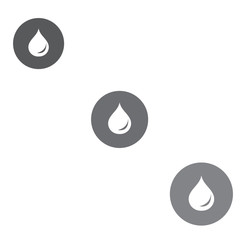 Stylized icon of the three colored fuel droplets silhouette in c