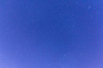 Dark night sky and many stars