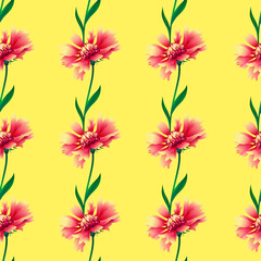 Seamless background with flowers. Floral vector pattern.