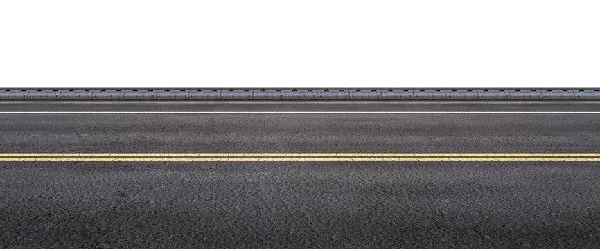 asphalt street on white background