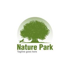 oak tree logo icon