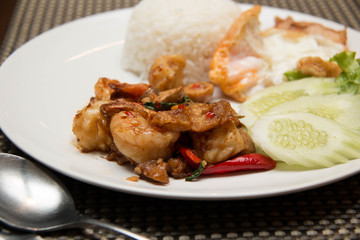 Thai spicy seafood style with rice