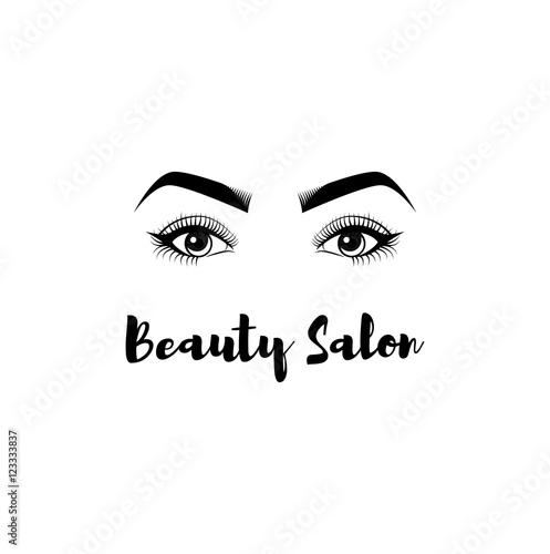 """Beauty Salon Badge. The Women s Eyes. Eyelashes, Eyebrows ..."