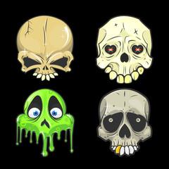 halloween skull Isolated vector illustrations