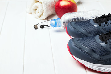 Mans sneakers and other training accessories