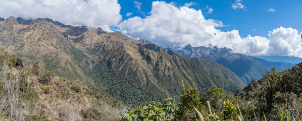 Panorama of the Andes Along the Inca Trail