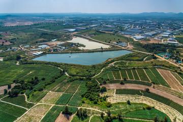 Industrial Estate Land Development Water Reservoir Farming