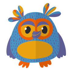 Vector image of cute owl for kindergarten