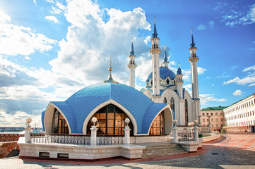 The Kul Sharif Mosque is a one of the largest mosques in Russia. The Kul Sharif Mosque is located in Kazan city in Russia. Wall mural