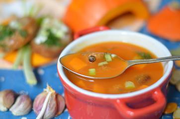 Суп из тыквы.