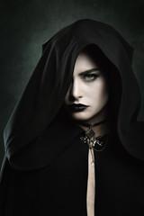 Portrait of a beautiful vampire woman