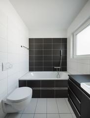 Modern house interior bathroom