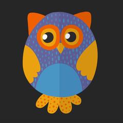 Vector image of cute owl for kindergarten