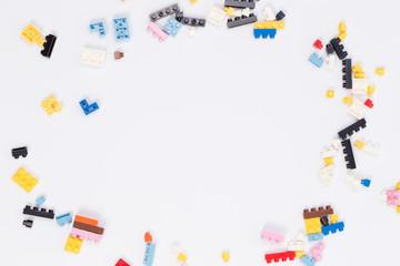 Toy colorful plastic blocks