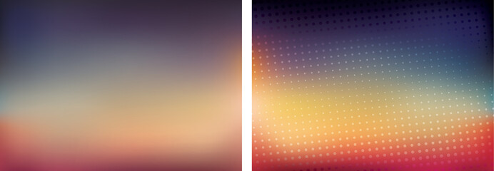 Blurred background set 16:9 abstract vector wallpaper for webdes
