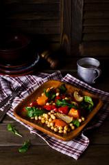 Salad of roasted vegetables