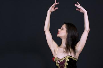 balerina women posing in studio