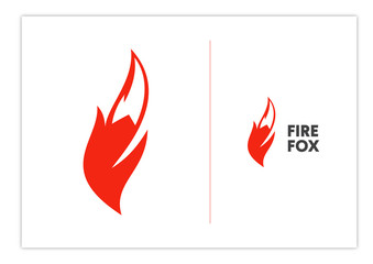 Fire Fox, fox tail, F letter