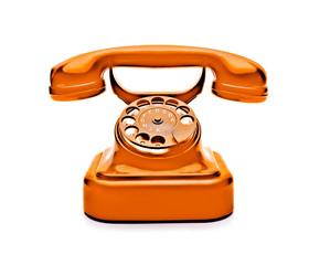 Telefon in Orangefarbe
