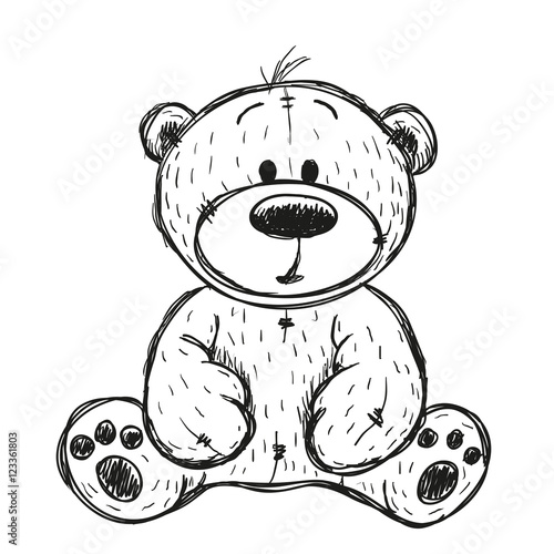Drawing teddy bear stock image and royalty free vector files on drawing teddy bear altavistaventures Image collections