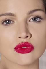 Sexy lipstick lips