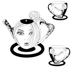 Fantasy Tea with a girl