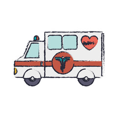 truck ambulance blur with medical symbol vector illustration