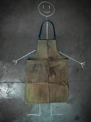 smiley and dirty apron