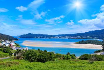 Sunshiny Porto Do Barqueiro, Galicia, Spain.