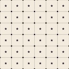 Retro pattern of geometric star shapes