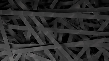 Metallic planks, in a disorder